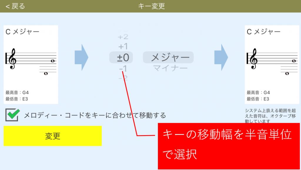 キー変更画面表示